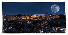 Moon Over The Carrier Dome Beach Towel