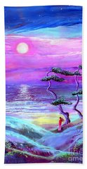 Moon Pathway,seascape Beach Towel