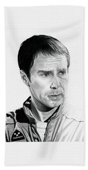 Moon  Sam Rockwell Beach Towel