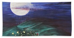 Beach Sheet featuring the painting Moon Showers by Cheryl Bailey