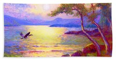 Wild Goose, Moon Song Beach Towel by Jane Small