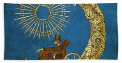 Moon Travel Beach Towel by Eric Fan