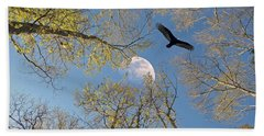 Beach Towel featuring the photograph Moon Trees by Savannah Gibbs