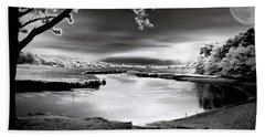 Beach Towel featuring the photograph Moona Lagoona by Robert McCubbin