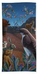 Moonlight Cantata Beach Towel by James W Johnson