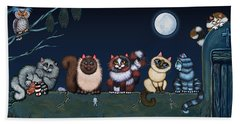 Moonlight On The Wall Beach Towel