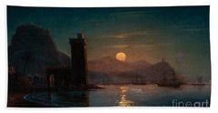 Moonlight Reflecting On Water Beach Towel