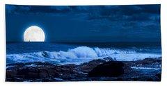Moonlight Sail Beach Towel