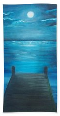 Moonlit Dock Beach Towel