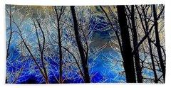 Moonlit Frosty Limbs Beach Sheet