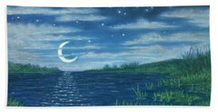Moonlit Lagoon Beach Towel