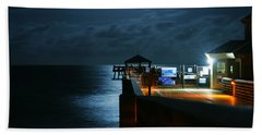 Moonlit Pier Beach Towel