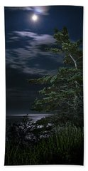Moonlit Treescape Beach Towel