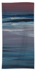 Moonlit Waves At Dusk Beach Sheet