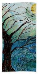 Moonrise In The Wild Night Beach Towel