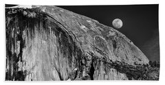 Moonrise Over Half Dome Beach Sheet