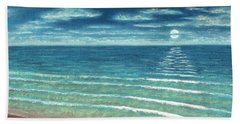 Moonset C Beach Towel
