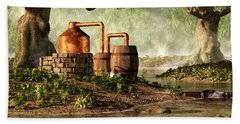 Moonshine Still 1 Beach Sheet by Daniel Eskridge