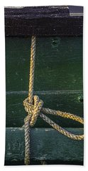 Beach Towel featuring the photograph Mooring Hitch by Marty Saccone