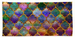 Moorish Mosaic Beach Towel by Lilia D