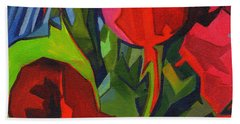 More Red Tulips  Beach Towel