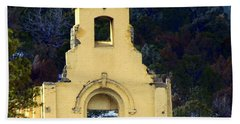 Beach Towel featuring the photograph Mountain Mission Church by Barbara Chichester