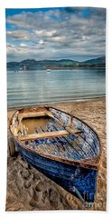 Beach Towel featuring the photograph Morfa Nefyn Boat by Adrian Evans