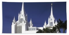 Mormon Temple Beach Sheet