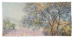 Morning At Antibes Beach Towel by Claude Monet