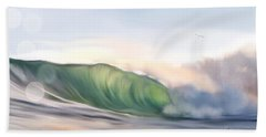 Beach Towel featuring the painting Morning Break by Dawn Harrell
