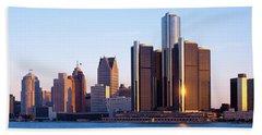Morning, Detroit, Michigan, Usa Beach Towel