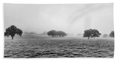 Beach Towel featuring the photograph Morning Fog by Howard Salmon