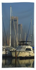 Morning Fog Ll Beach Towel by Leticia Latocki