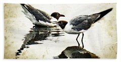 Morning Gulls - Seagull Art By Sharon Cummings Beach Towel by Sharon Cummings