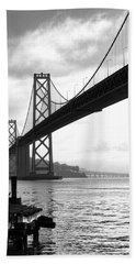 Morning In San Francisco Bw Beach Towel
