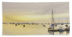 Morning Light Rockland Maine Beach Towel