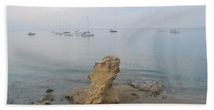 Beach Towel featuring the photograph Morning Mist 2 by George Katechis