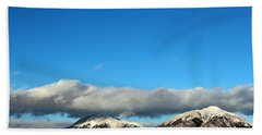 Beach Sheet featuring the photograph Morning Moon Over Spanish Peaks by Barbara Chichester
