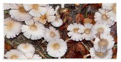 Morning Mushrooms Beach Sheet