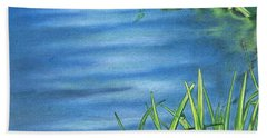 Morning On The Pond Beach Towel by Troy Levesque