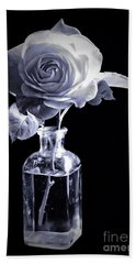 Morning Rose Cyan Beach Towel