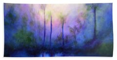 Beach Towel featuring the painting Morning Symphony by Alison Caltrider