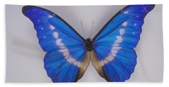 Morpho Butterfly Beach Towel