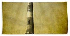 Morris Island Light Bw Vintage Beach Towel