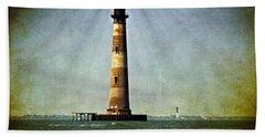Morris Island Light Vintage Color Uncropped Beach Towel