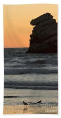Morro Beach Sunset Beach Towel
