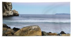 Morro Rock Morning Beach Towel