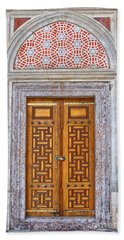Mosque Doors 04 Beach Towel by Antony McAulay