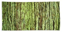 Moss On Tree Bark Beach Towel