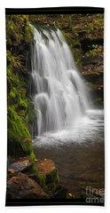 Mossy Wilderness Waterfall Cascade Beach Towel